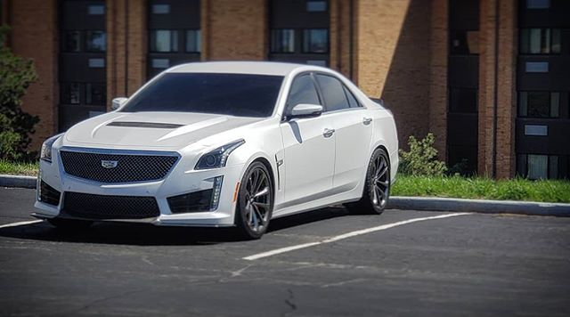 dzmedia 2016 Cadillac CTS-V crystal white frost edition.  1882 cts-v cars were made in 2016. This one is #45 out of 102 in the special edition crystal white frost mate paint. #ctsv#caddilac #lt4#supersedan #supercharged #zr1#z06#zl1#gmperformance #lsx#v3v#ctsvnation